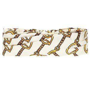 Gucci Silk Horse-bit Headband in White